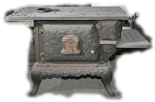 7-03: Never Fail Walkaround - Antique Heaters And Stoves For Sale - Never Fail Walkaround Wood Stove